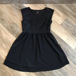 Sweet & fun black on black dress, fully lined. EUC